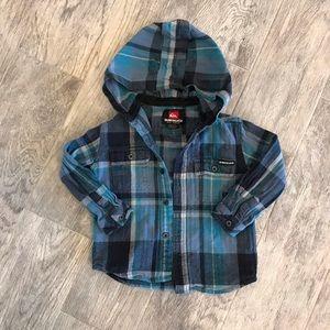 Quicksilver button down hoodie